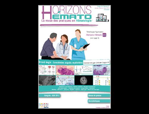 Horizons Hémato – Vol. 3 n°1 – Mars 2013
