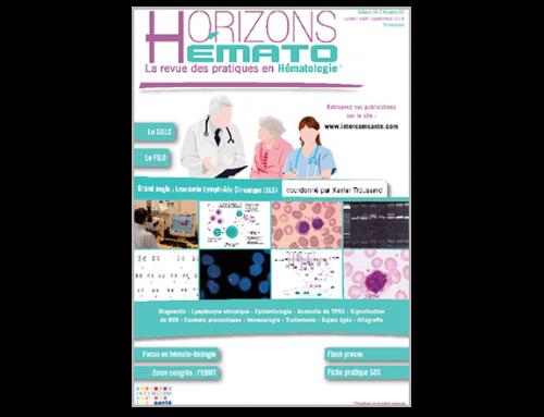Horizons Hémato – Vol. 6 n°3 – Septembre 2016