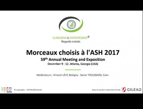 Diaporama : Cliniciens & Statisticiens à l'ASH 2017 : morceaux choisis.